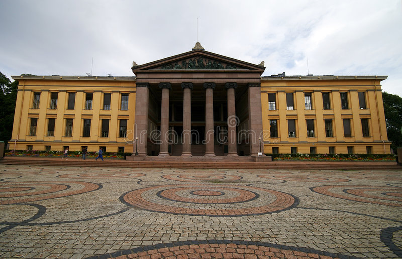 Download Oslo university stock photo. Image of historic, clouds - 3002594
