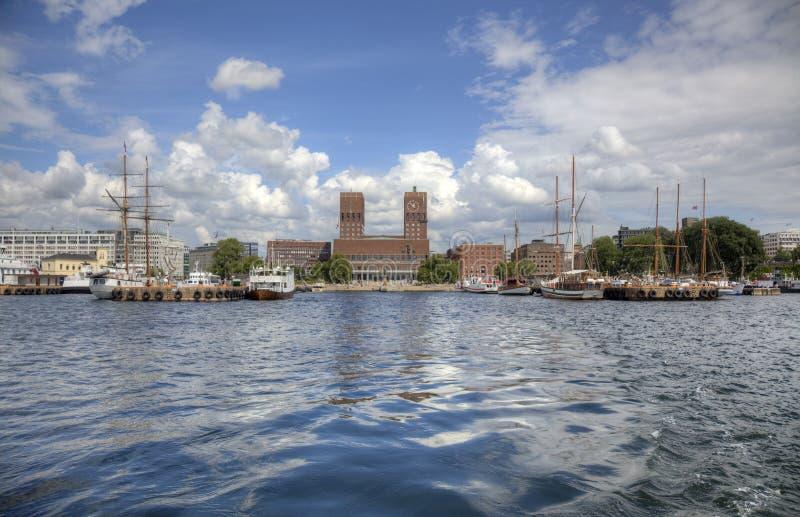 Oslo van het overzees (HDR) stock foto
