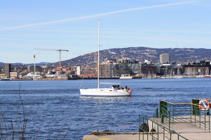 Oslo van Hovedøya stock afbeeldingen