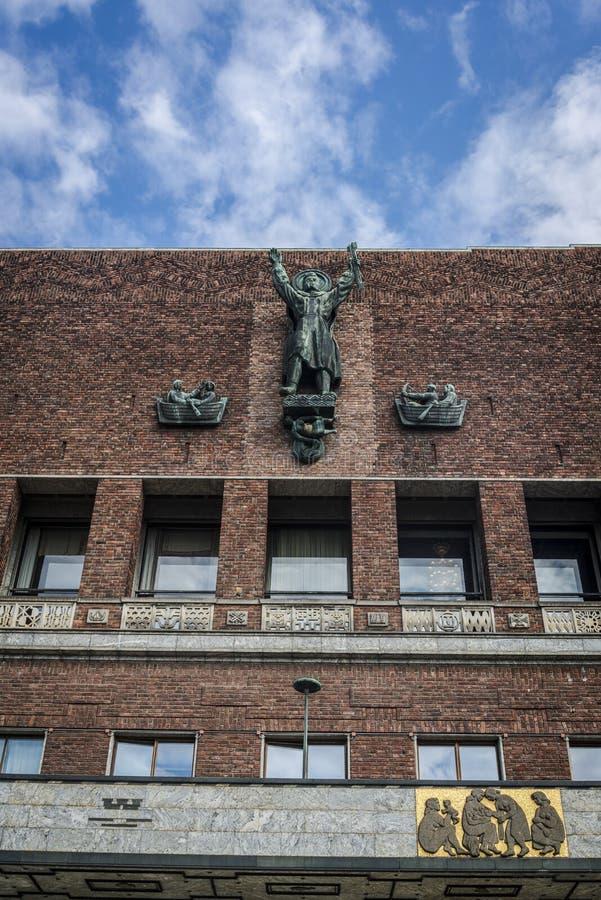 OsloRathaus, Oslo, Norwegen lizenzfreies stockfoto