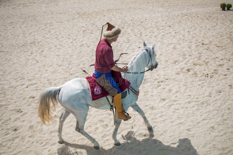 Osmańska jeździec jazda na jego koniu fotografia royalty free