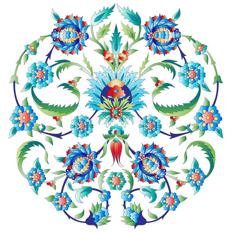 Osmańska sztuka kwitnie siedem ilustracji