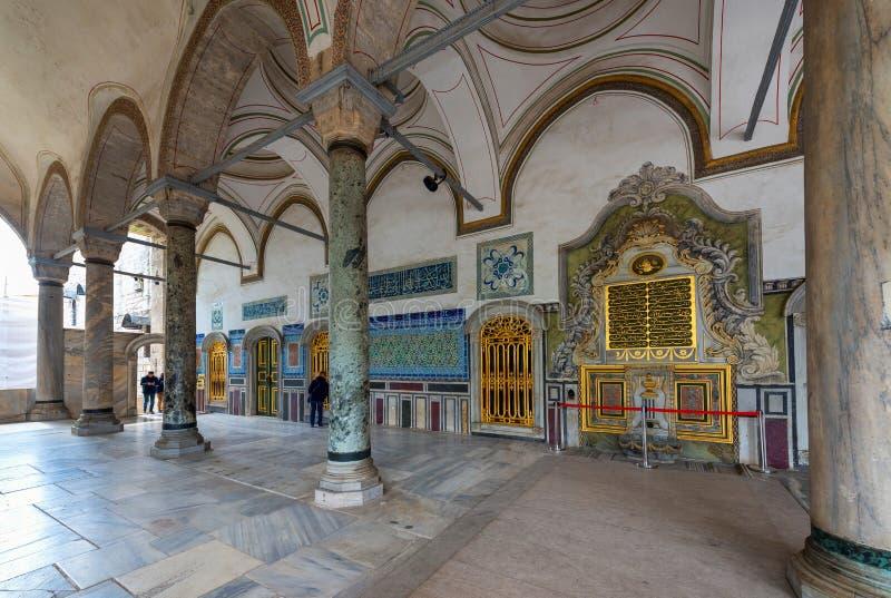 Osmański sułtanu pałac Topkapi, Istanbuł, Turcja obrazy royalty free