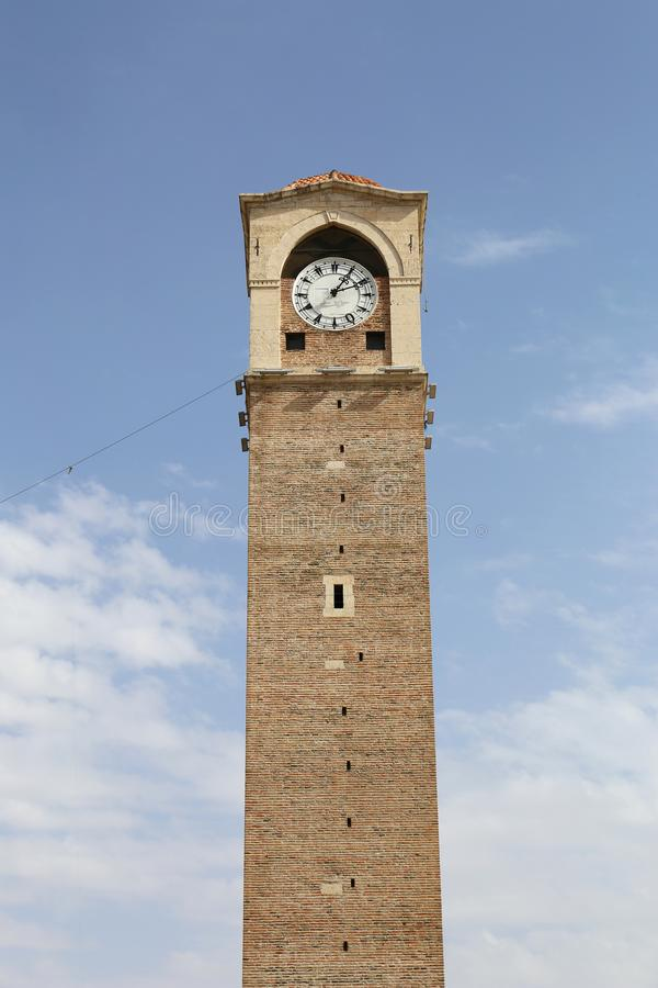 Osmane-Ära-großartiger Glockenturm von Adana stockbild