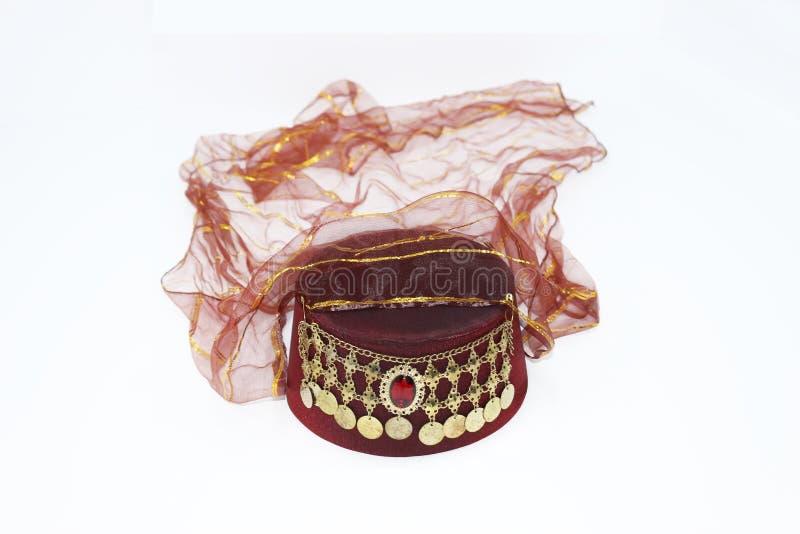 Osmaneart Fez für Frauen Der türkische Hut der Frauen lizenzfreie stockfotos