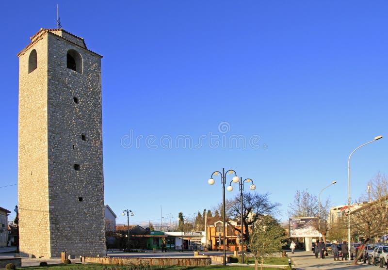 OsmaneGlockenturm in Podgorica lizenzfreie stockbilder