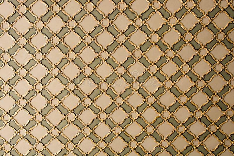 Osmanekunst mit geometrischen Mustern auf Holz stockbild