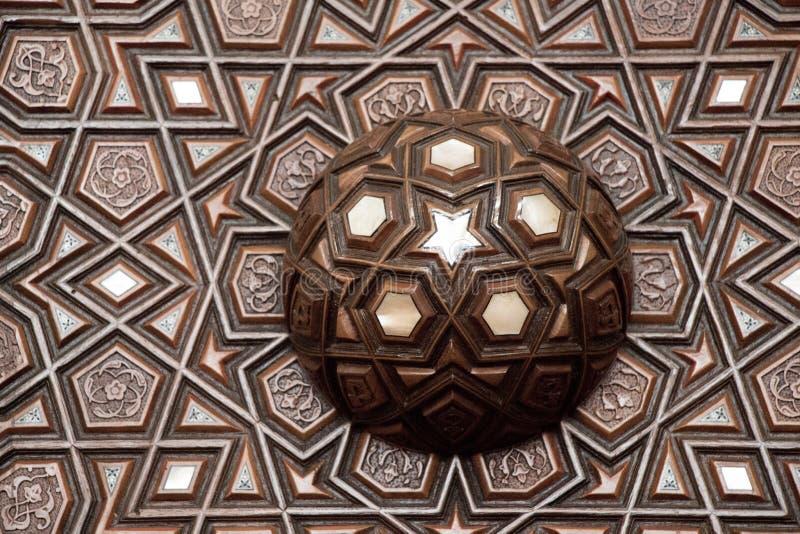 Osmanekunstbeispiel von Perlmutteinlegearbeiten von Istanbul-Türken lizenzfreie stockfotos