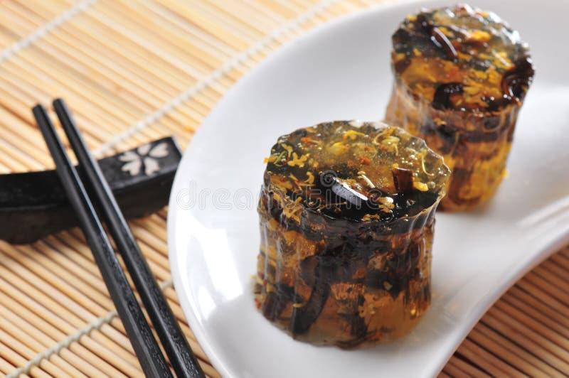 Osmanthus jelly cake. Japanese dessert osmanthus jelly cake stock images