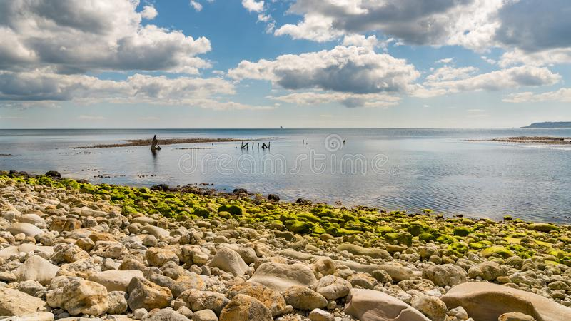 Osmington fjärd, Jurassic kust, Dorset, UK arkivfoto