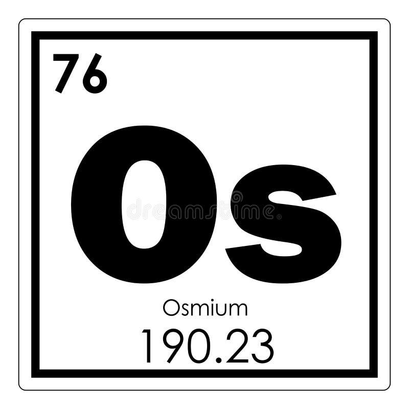Osmium Chemical Element Stock Illustration Illustration Of Formula