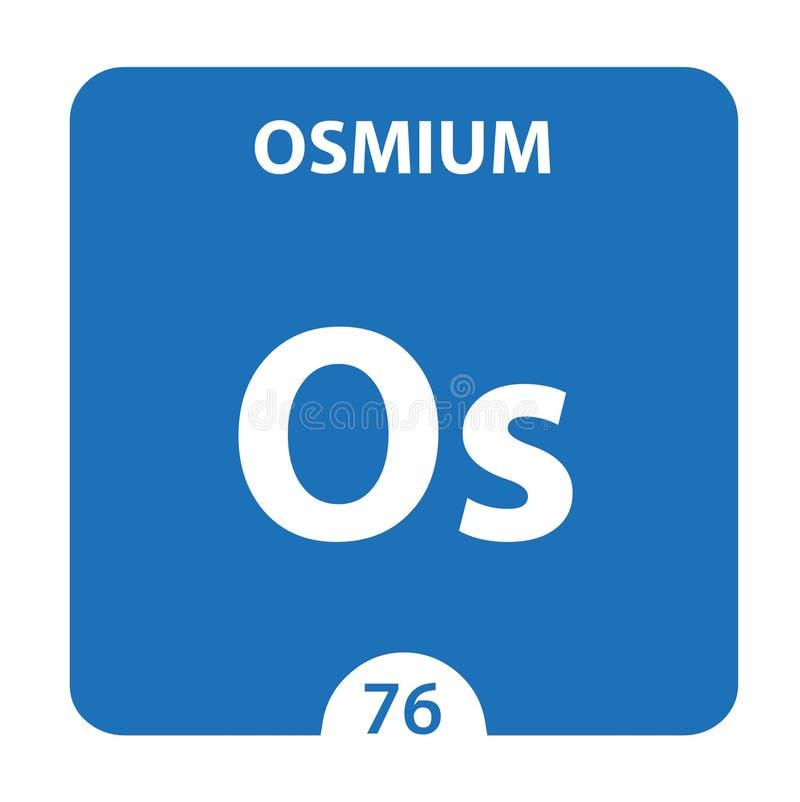 Osmium Chemical 76 elemento da tabela periódica Contexto Da Molécula E Da Comunicação Osmium Chemical Os, laboratório e ciência ilustração do vetor