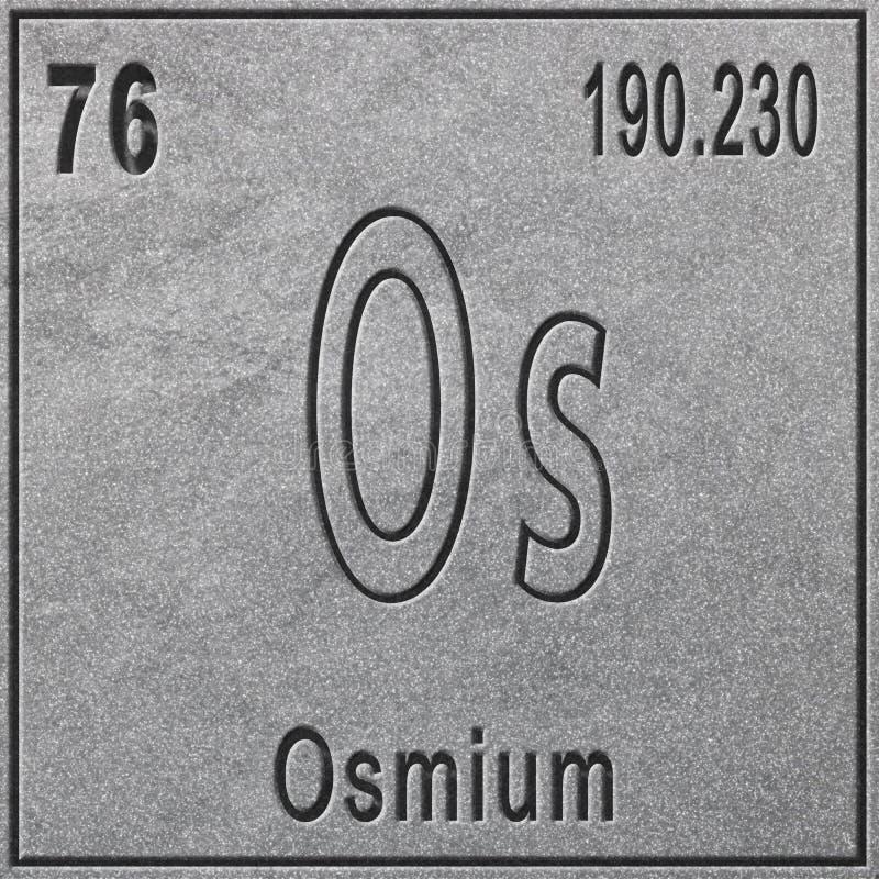 Osmium Chemisches Element Zeichen Mit Atomnummer Und