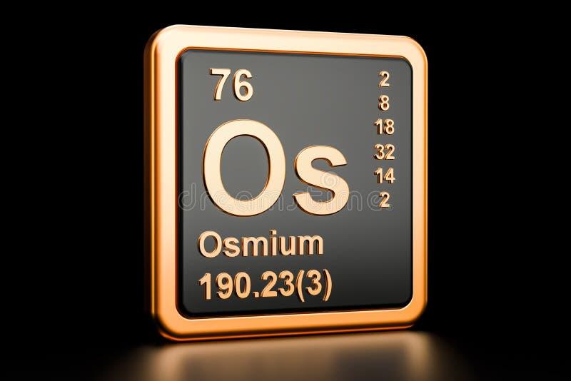 Osmium Os Chemical Element 3d Rendering Stock Illustration