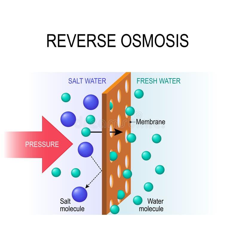 Osmose reversa ilustração stock