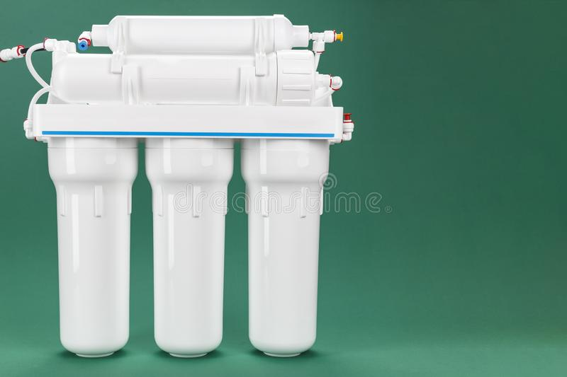 Osmosis water filter. Osmosis water purification filter for home use. healthy lifestyle stock images