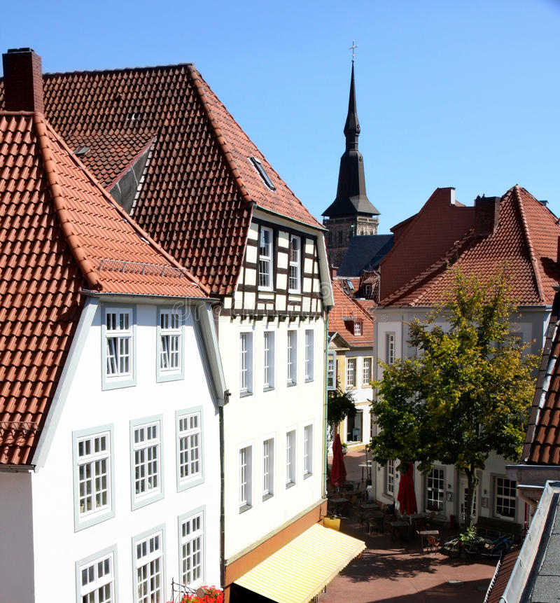 Osnabruck, Germany. View of panorama Osnabruck, Germany royalty free stock photos