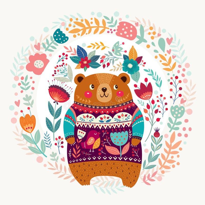Oso adorable stock de ilustración