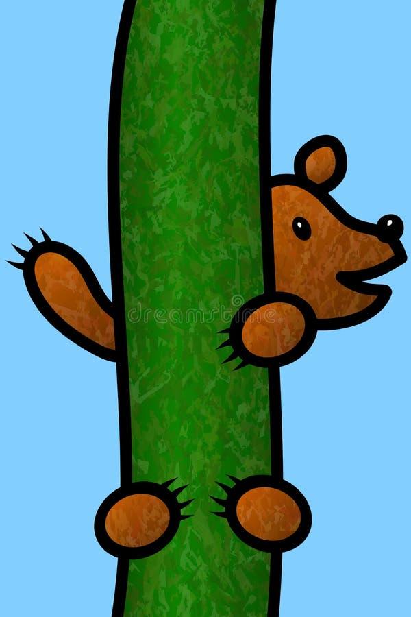 Oso Cub que sube un árbol libre illustration
