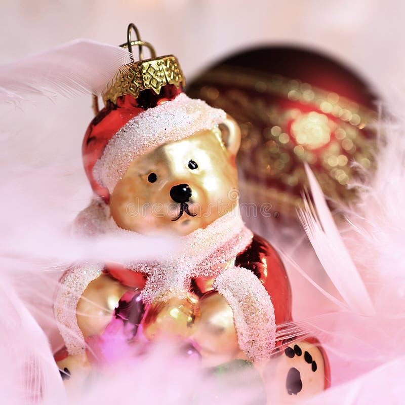 Oso de la Navidad fotografía de archivo