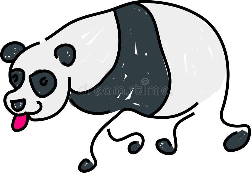 Oso de la panda stock de ilustración