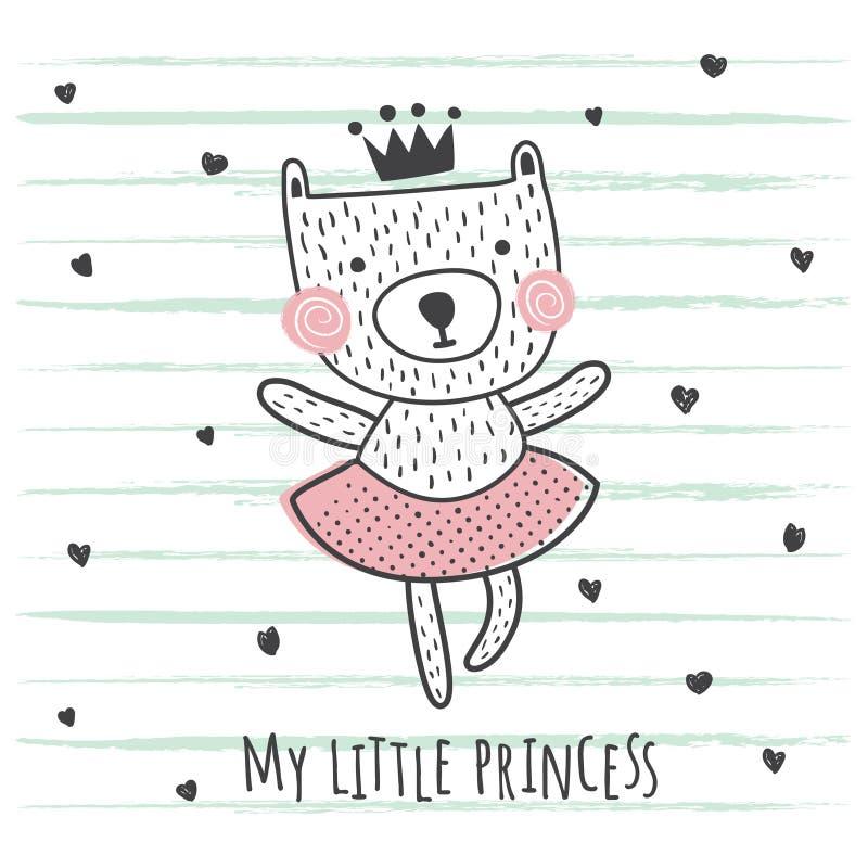 Oso de la princesa stock de ilustración
