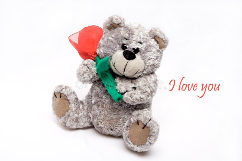 Oso de las tarjetas del día de San Valentín fotos de archivo libres de regalías