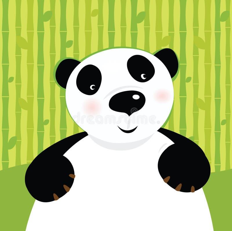 Oso de panda blanco y negro stock de ilustración