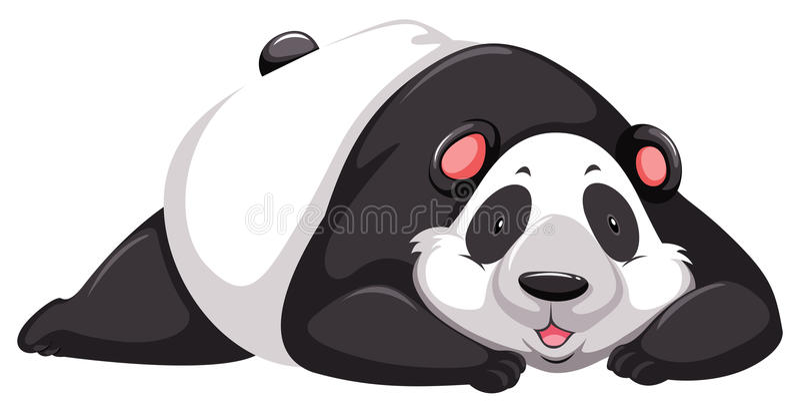 Oso de panda cansado libre illustration
