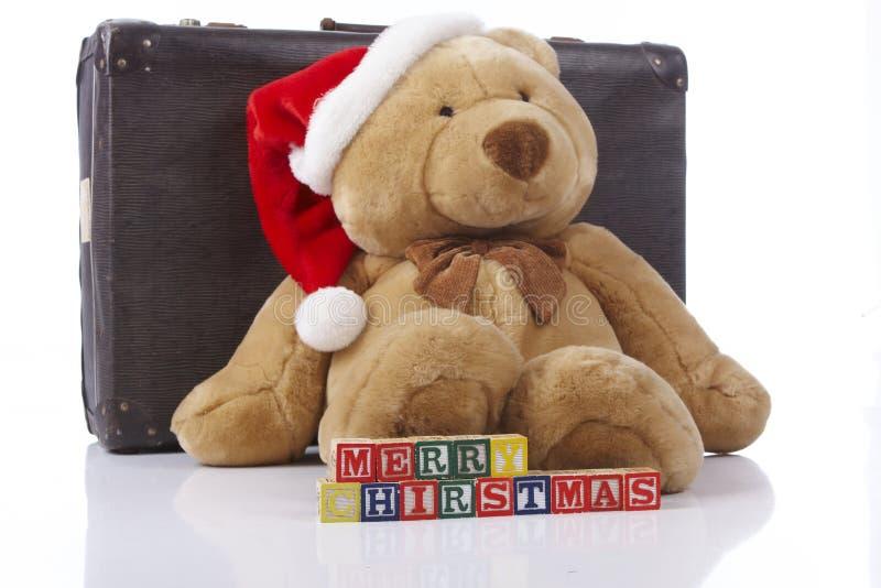 Oso de peluche de la Feliz Navidad imagen de archivo