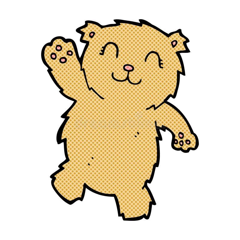 oso de peluche de la historieta que agita cómica ilustración del vector