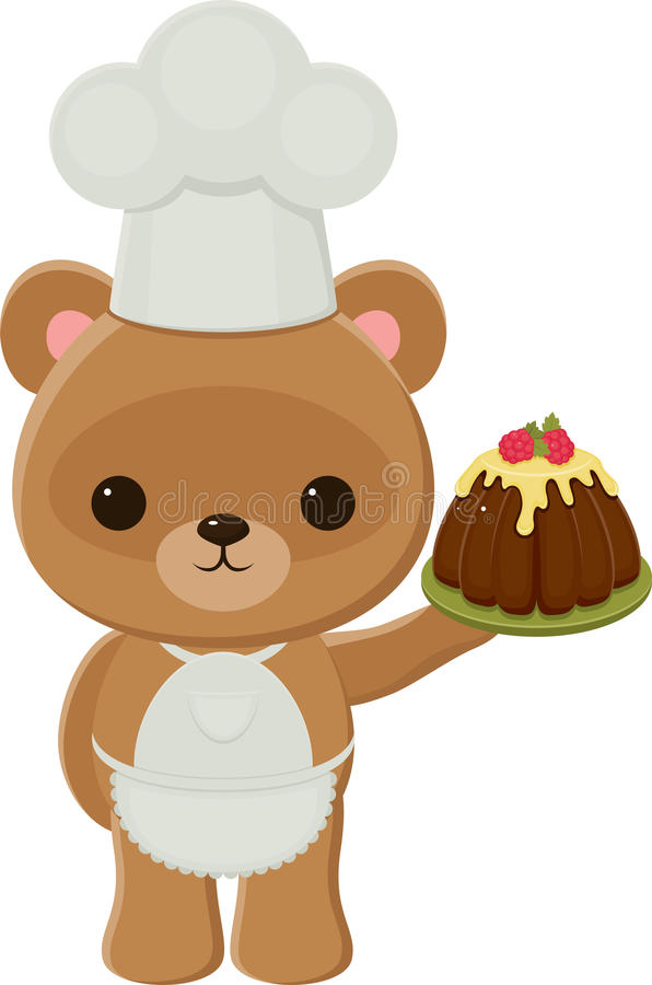 Oso de peluche del cocinero libre illustration