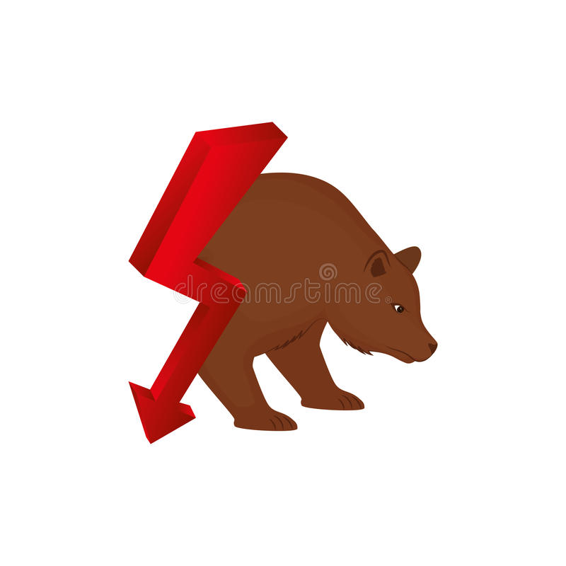 Oso del mercado de acción libre illustration