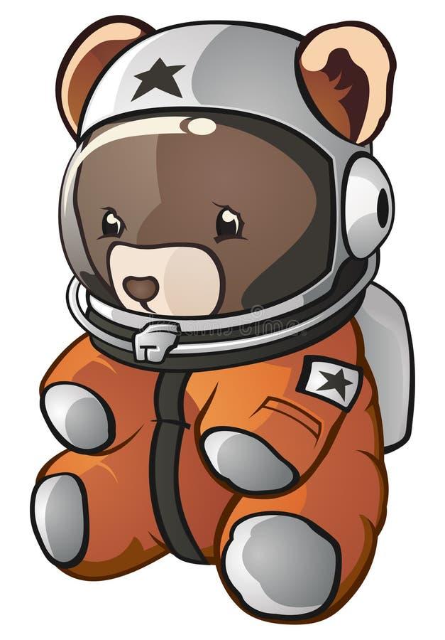 Oso del peluche del astronauta stock de ilustración