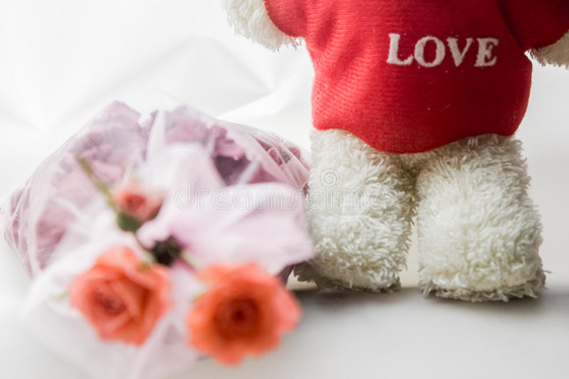 Oso en amor imágenes de archivo libres de regalías