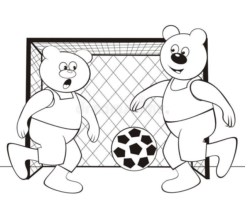 Oso-fútbol - Libro De Colorear Stock de ilustración - Ilustración de ...