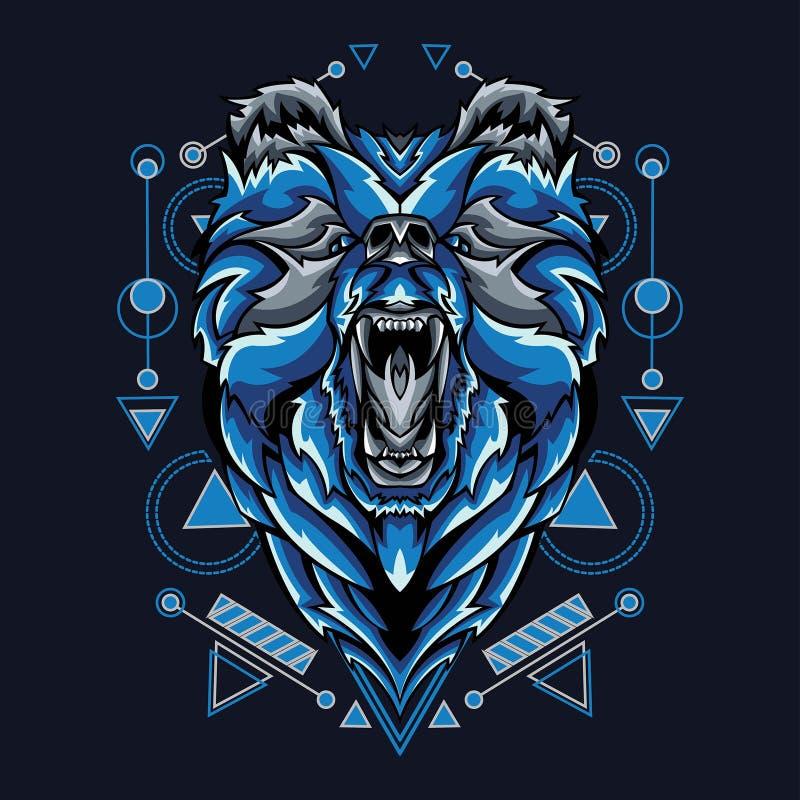 Oso mítico con Geometría Sagrada Pattren libre illustration