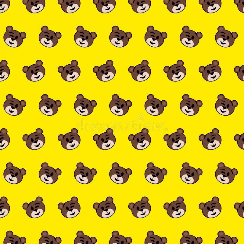 Oso - modelo 09 del emoji ilustración del vector