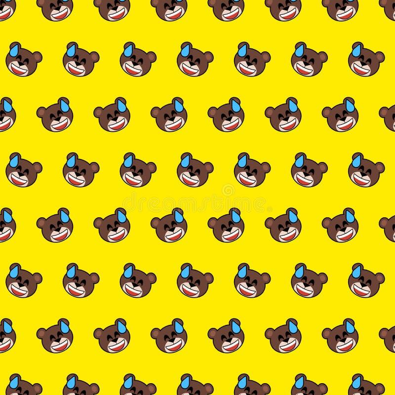 Oso - modelo 07 del emoji libre illustration
