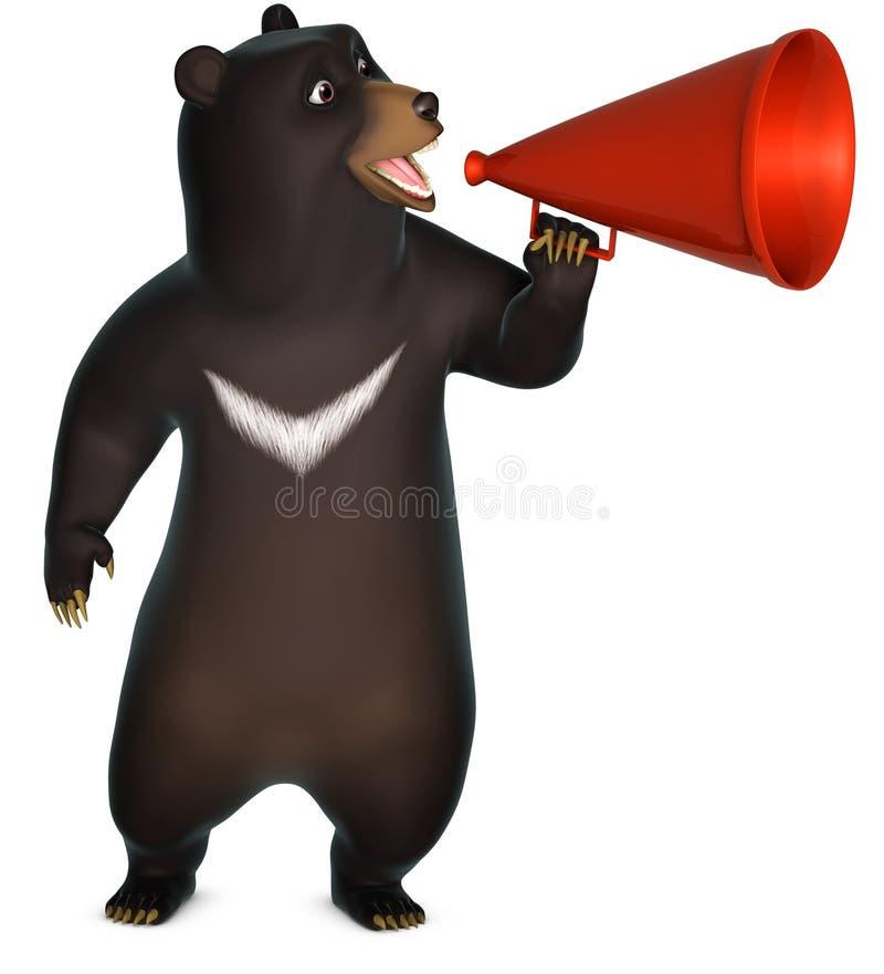 oso negro 3d ilustración del vector