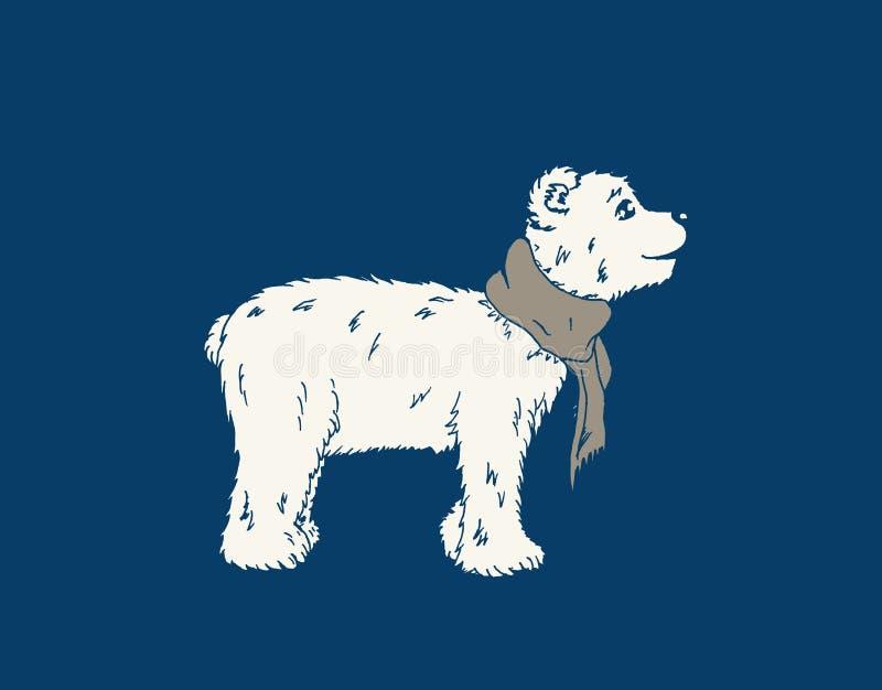 Oso polar con la bufanda imagen de archivo libre de regalías