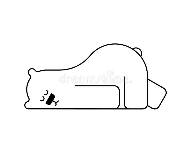 Oso polar dormido La bestia está durmiendo Ilustraci?n del vector stock de ilustración