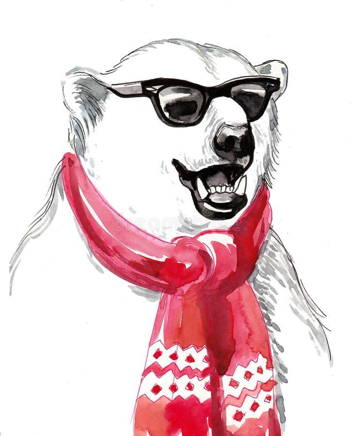 Oso polar fresco ilustración del vector