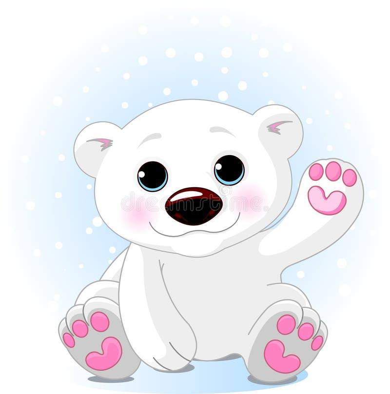 Oso polar lindo Cub ilustración del vector