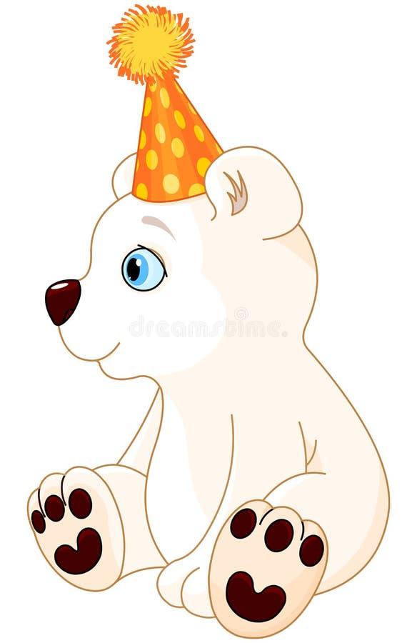 Oso polar que celebra ilustración del vector