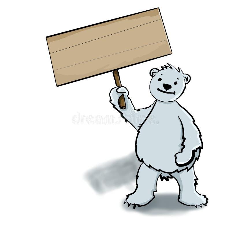 Oso polar que celebra una muestra stock de ilustración