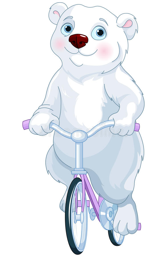 Oso polar que monta una bicicleta libre illustration