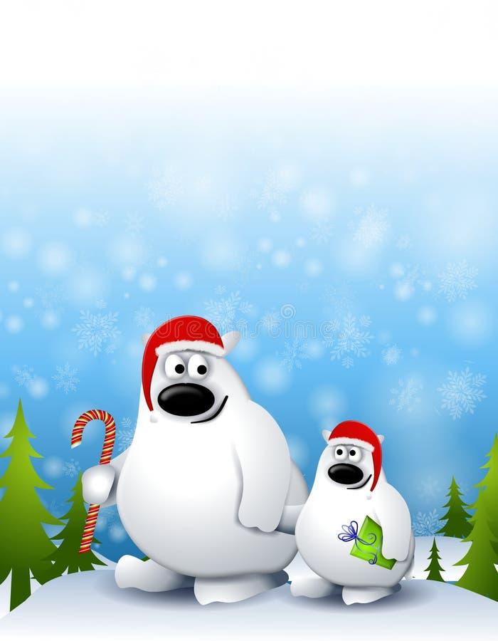 Oso polar y Cub 2 de Navidad ilustración del vector