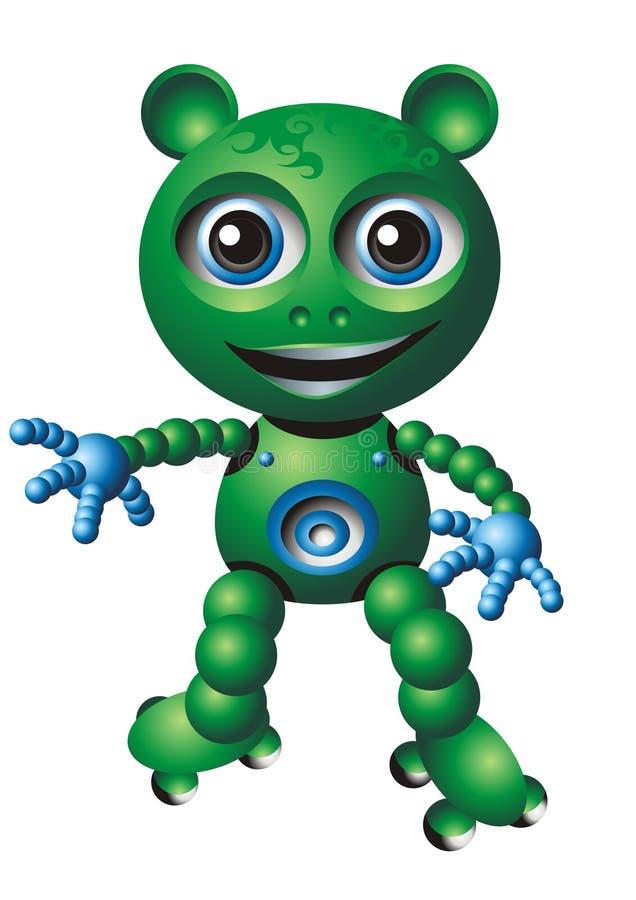 Oso verde de la burbuja stock de ilustración