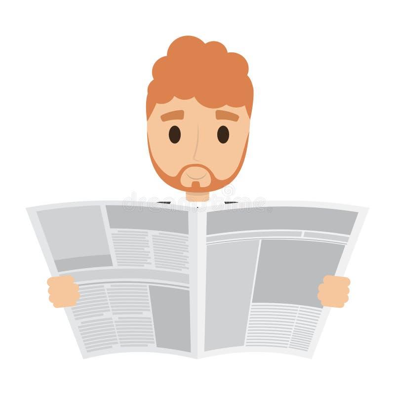 Osoba czyta gazetę royalty ilustracja